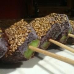 Kiwi Sesame Popsicles