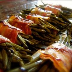 Pancetta Wrapped Balsamic Beans