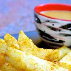 Posh 'Chip Shop' Chips and Curry Sauce